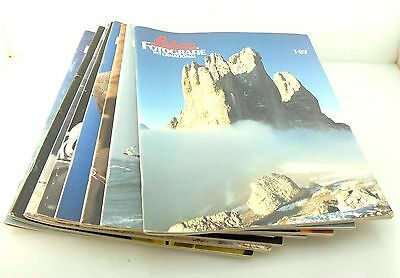 LEICA Fotografie Magazines, 1989, full year, 8 Issues