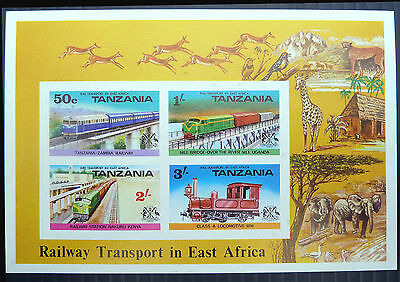 TANZANIA Wholesale 1976 Railway Imperf M/Sheets x 50 NEW LOWER PRICE GH 150