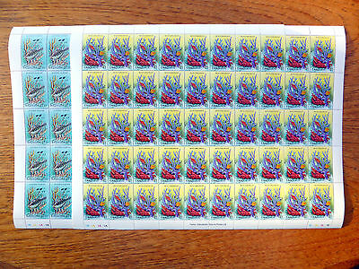 BARBUDA Wholesale 1987 $1 & $1.25 Marine Life in Complete Sheets of 50 FP2446