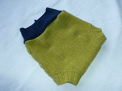 wool shorties shortie *NEW* diaper cover wrap soaker doubled greenish yellow S