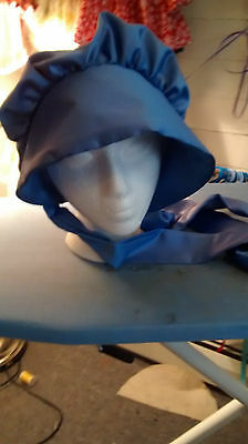 Adult Bonnets *New* One Size Fits Most~  Civil War/Pioneer *Periwinkle Satin
