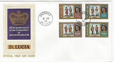 1978 Queen Elizabeth II 25th Anniversary of Coronation St. Lucia