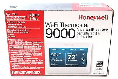 Honeywell WiFi Thermostat 9000 Color Touchscreen (TH9320WF5003)