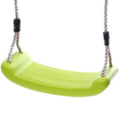 Rebo Replacement Childrens Moulded Plastic Kids Single Swing Seat - Lime Green