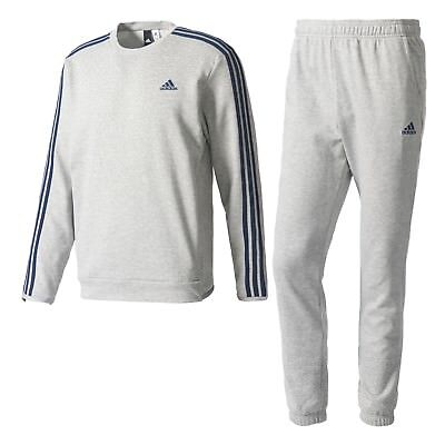 adidas Herren Sport Fitness Trainingsanzug Cotton Chill out Tracksuit grey