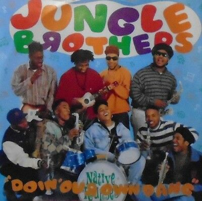 """JUNGLE BROTHERS - Doin Our Own Dang ~ 12"""" Single PS"""