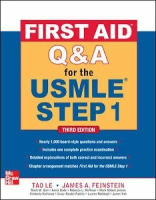 First Aid Q&A for the USMLE Step 1 by Tao Le 9780071744027 (Paperback, 2000)