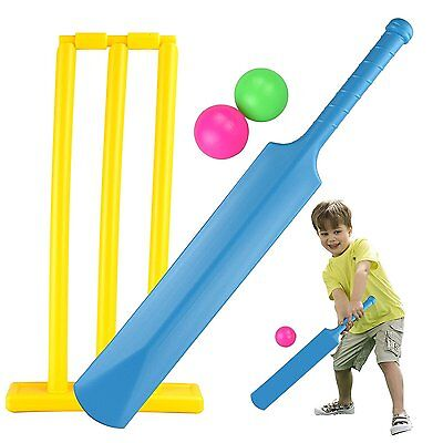 Childrens My First Cricket Set Bat Ball Bails Stumps Garden Game Beach Kids Toy