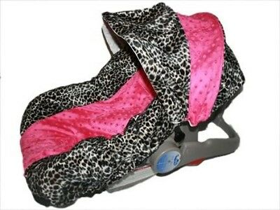 NEW Infant MINKY CAR SEAT COVER-For Graco Evenflo -LEAH