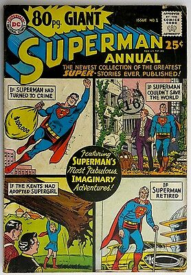 80pg. Giant Superman Annual #1 - 1964 Issue - DC Comics