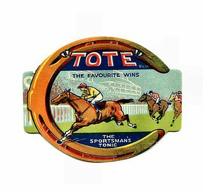 """BOTTLE  LABEL:  """"TOTE - THE SPORTSMAN'S  TONIC""""   Approx.  3 1/4"""" X 4""""   LABEL"""