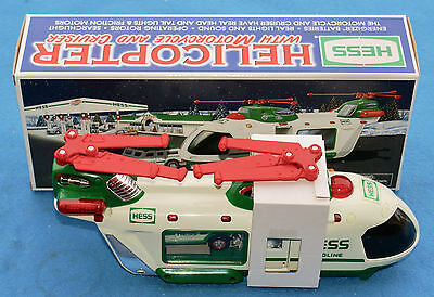 2001 Hess Toy HELICOPTER with Motorcycle & Cruiser  NEW in BOX