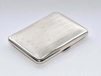 Fine Antique Hm Sampson Mordan Solid Silver Sterling Cigarette Case London 1913