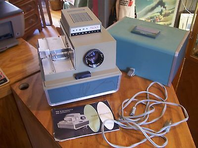 Vintage Argus 500 Automatic Projector Single Slide w/ ORIGINAL BOOKLET WORKS!