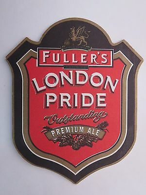 BEER Bar COASTER ~*~ FULLER'S London Pride Outstanding Ale ~*~ Chiswick, England