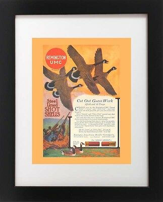 Antique Remington UMC Shotgun Shell CANADA GOOSE Bear Bird Hunting Gun Art Print