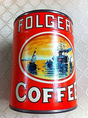 Folger's Coffee Puzzle In Cardboard/tin Container