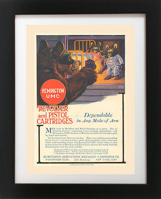 Antique Remington UMC Revolver PISTOL Gun Burglar Bear Self Defense Art Print