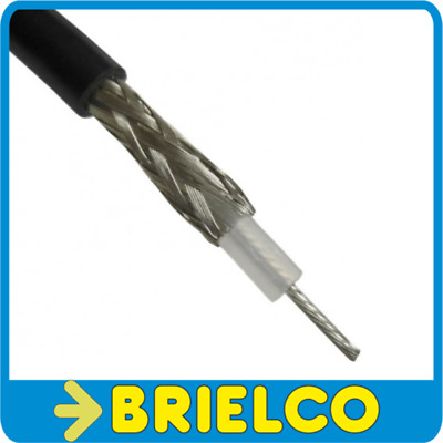 Cable Coaxial Rg58 50 Ohm 10 Metros Exterior 5Mm Interior Flexible Negro Bd3238