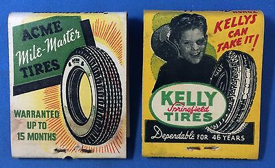 1940s Vintage KELLY & ACME TIRES Cities Service Gas & Oil Complete Matchbook