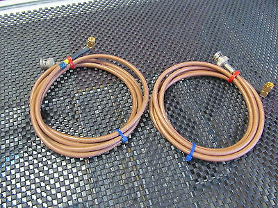 SMA MALE Right Angle to BNC male Cable 55 inches long RG-400 Teflon lot of 2
