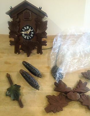 Vintage German Small Black Forest Cuckoo Clock For Parts/Repair Made In Germany