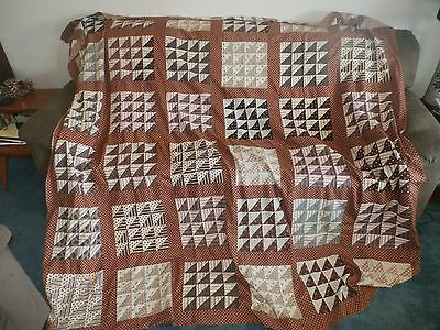 Vintage Antique Patchwork Quilt Top Flying Geese Variant Block