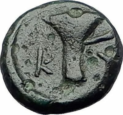 KYME in AEOLIS Original 350BC Eagle Vase Authentic Ancient Greek Coin i60954