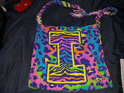 Justice - Girl's Terry Cloth Letter I Cheetah Beach Bag