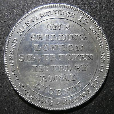 London Middlesex shilling token - H. Morgan 19th century - Dalton#21