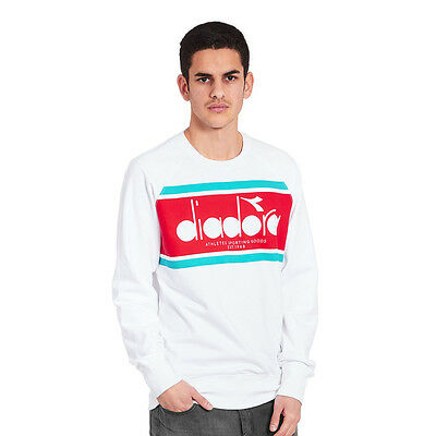 Diadora - BL Sweater Optical White / Green Ceramics Pullover Rundhals
