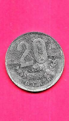 Costa Rica Km216.1 1994 Xf-Super Fine-Nice Large Old 20 Colones Coin