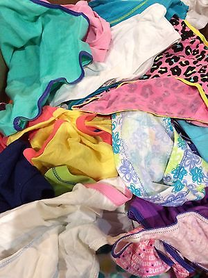 Lot Of 100 GIRLS Underwear SIZE  14 Assorted Lot Of Colors-Styles-Brands