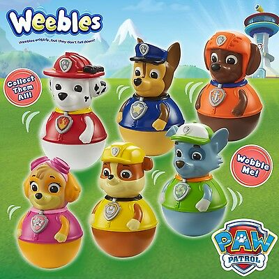 Weebles Official Paw Patrol Figure Chase Marshall Rubble Skye Everest Rocky Zuma