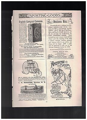 To Business Men Ride A Cycle in 1888 Columbia Cycles For 1888 1/4 Page Ad