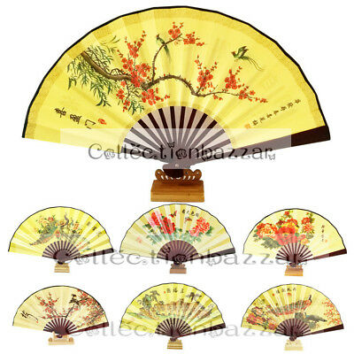 Chinese Bamboo Hand Fan for Dancing or Fan Collection You Pick On Sale Size 13""