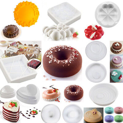 Silicone Fondant Cake Mold Dessert Mousse Chocolate Ice Cream Pastry Baking Tool