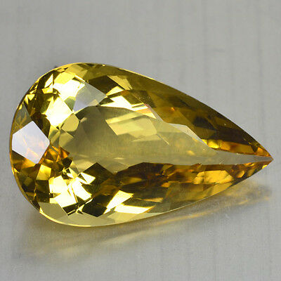 16.24 Cts FANCY QUALITY GOLDEN YELLOW COLOR NATURAL HELIDOR BERYL GEMSTONES