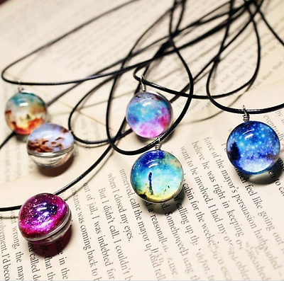 Galaxy Necklace, Nebula Jewelry, Stars And Universe Space Pendant Necklace