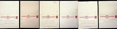 RUSSIA  1926 SET  OF  6  DOUBLE POSTAL  STATIONERIES  TYPES! Mi € 450,- !