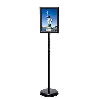 Smonet Adjustable Pedestal Sign Holder Floor Stand with Telescoping Post, New