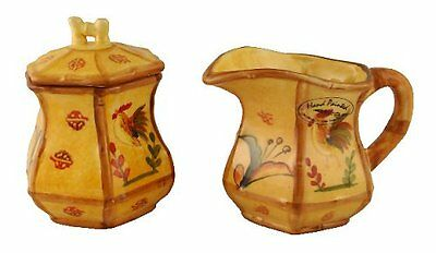 Bamboo Rooster Creamer & Sugar Set, 83932and By ACK