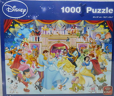 Original Disney Puzzle King Mickey Donald 1000 Teile 5180 Holiday on Ice