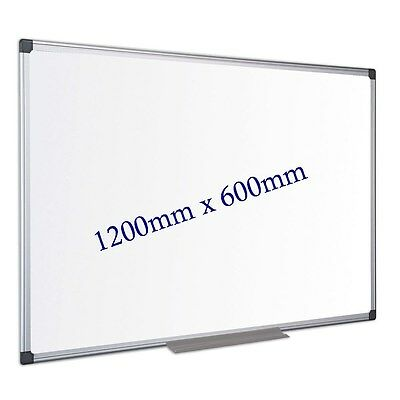 Double Sided Dry Wipe White Board 1200mm x 600mm Aluminium Frame P-439#