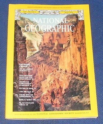 National Geographic Magazine July 1978 - Grand Canyon/voyager/lake Erie/japan