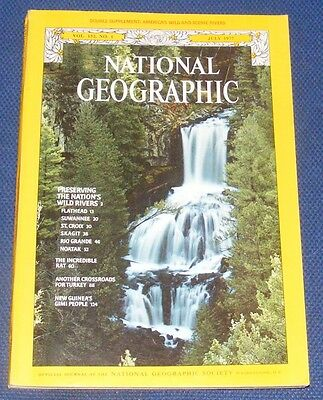National Geographic Magazine July 1977 - Wild And Scenic Rivers/the Rat/turkey