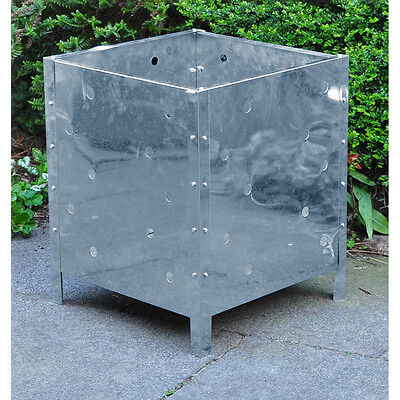 Large Square Steel Metal Garden Waste Incinerator Fire Bin Basket Rubbish Pit
