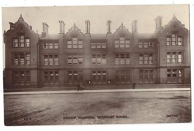 IPSWICH Municipal Secondary School, RP Postcard by Smith, Unused