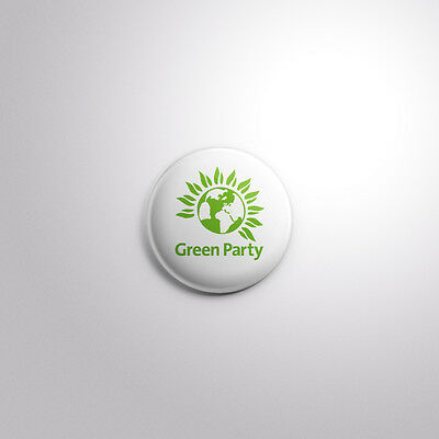 Green Party Logo - Pin/Button Badge - UK General Election 2017 - 4 Sizes