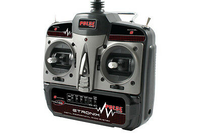ET1128 Etronix Pulse 2.0 X6 6 Channel FHSS Mode 1  2.4ghz Radio Combo